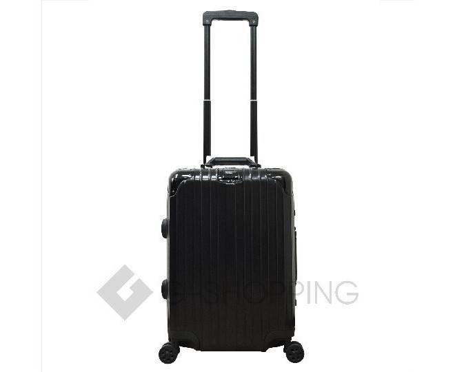 Пластиковый чемодан на колесиках черный РС151 5,4кг, фото 4