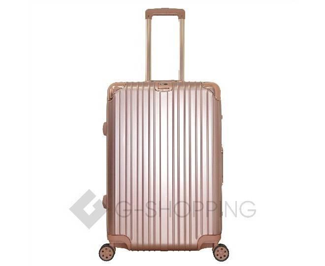 Пластиковый чемодан на колесиках золотистый PC151 4,8кг, фото 3