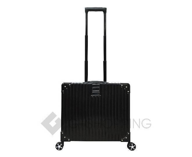 Пластиковый чемодан на колесиках черный DL068 3,7кг, фото 3