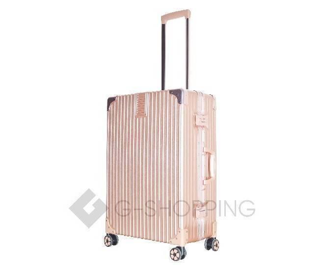 Пластиковый чемодан на колесиках розовый DL068 4,8кг, фото 4