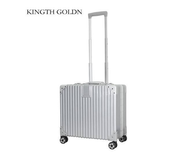 Пластиковый чемодан на колесиках серебристый DL068 3,7кг, фото 3