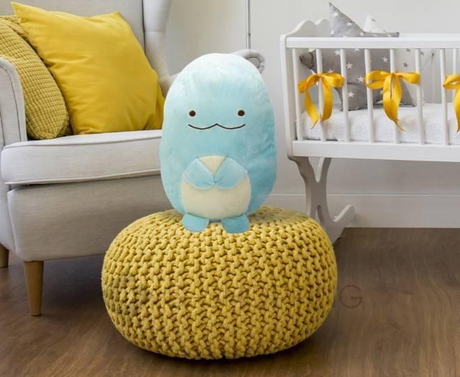 Мягконабивная игрушка-подушка Динозаврик голубого цвета, фото 6