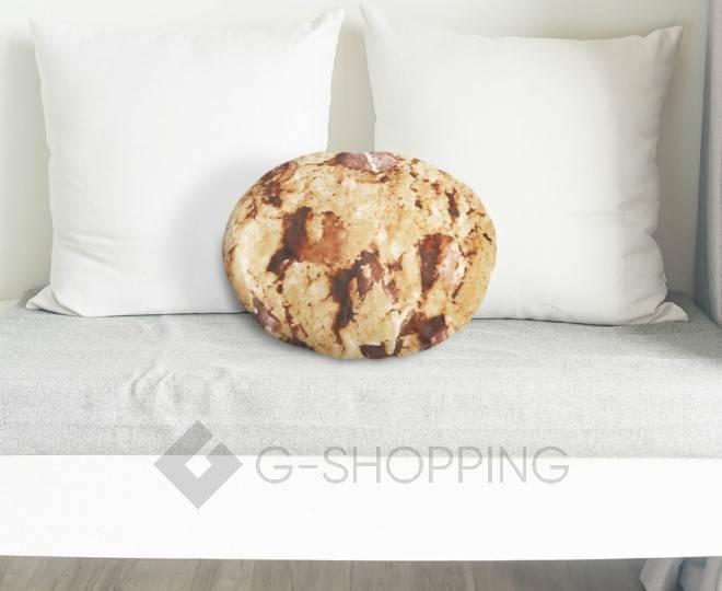"""Декоративная подушка с принтом """"Бисквитное печенье"""", фото 6"""