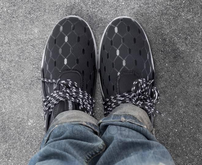 Стильные мужские кроссовки черные 45 размер YDX07-01-45 KINGTH GOLDN, фото 7