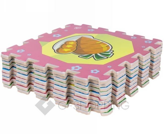 Детская игра развивающий коврик пазл 3D Meitoku Еда 9 деталей, фото 2