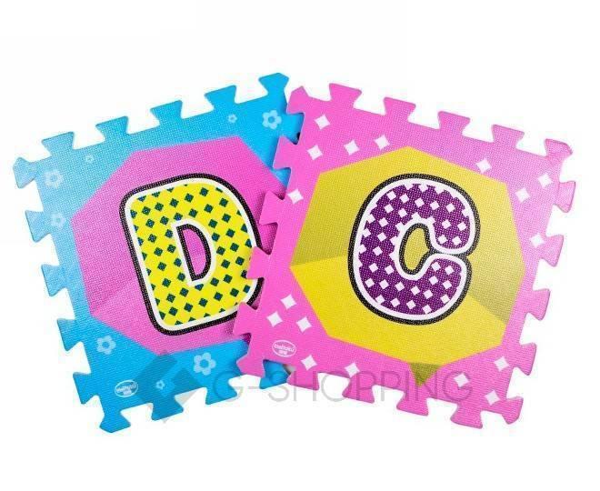 Детская игра развивающий коврик Алфавит Meitoku MD-10 пазл с составными буквами, фото 3