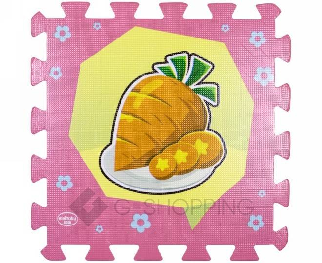 Детская игра развивающий коврик пазл 3D Meitoku Еда 9 деталей, фото 1