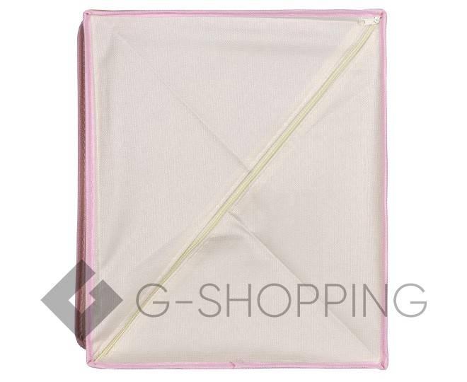Текстильная коробка для хранения нижнего белья бежевая, фото 3