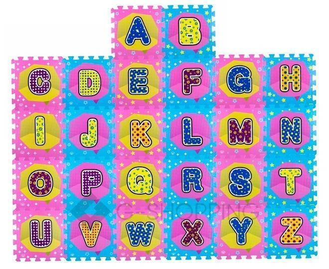 Детская игра развивающий коврик Алфавит Meitoku MD-10 пазл с составными буквами, фото 1