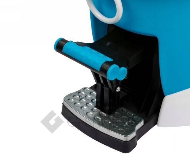 Швабра с ведром и педалью для отжима синяя M12 Touching Nature, фото 7