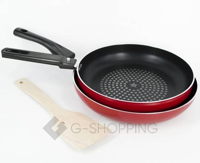 Набор посуды из 2 антипригарных сковород красного цвета GB-JJ002, фото 1