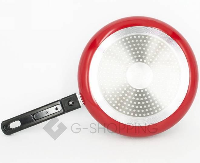 Набор посуды из 2 антипригарных сковород красного цвета GB-JJ002, фото 2