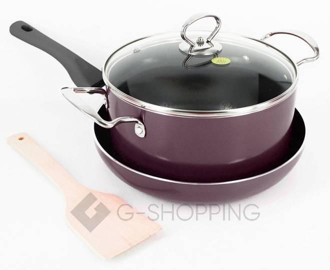 Удобный набор посуды из кастрюли и сковородки GB-JТ003, фото 1
