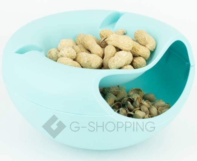 Миска для орехов, семечек или конфет RYP-09 синяя USLANBFAY, фото 2