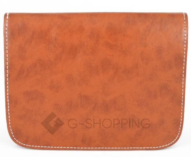 Женская коричневая сумка кросс-боди на молнии c090 Kingth Goldn, фото 7