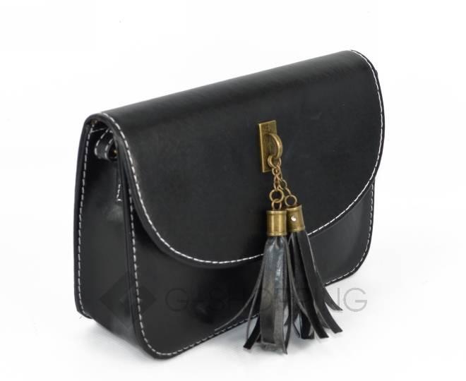 Женская черная сумка кросс-боди на молнии c090 Kingth Goldn, фото 4