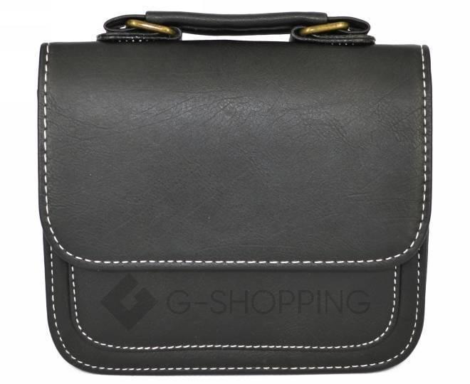 Женская маленькая черная сумка кросс-боди на магнитной застежке c083 Kingth Goldn, фото 7