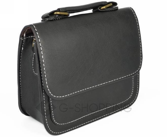 Женская маленькая черная сумка кросс-боди на магнитной застежке c083 Kingth Goldn, фото 8