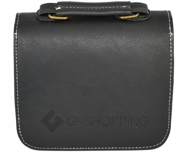 Женская маленькая черная сумка кросс-боди на магнитной застежке c083 Kingth Goldn, фото 9