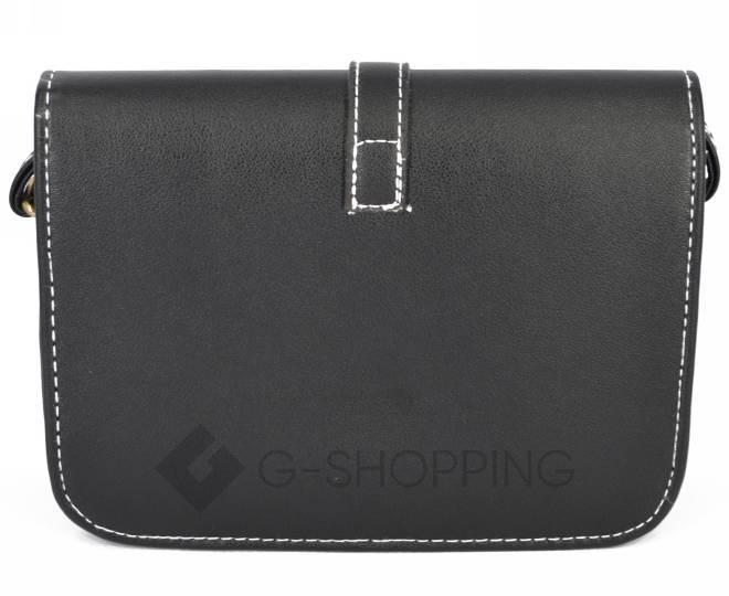 Женская черная сумка кросс-боди на молнии c092 Kingth Goldn, фото 4