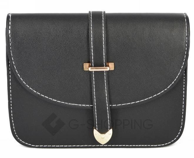 Женская черная сумка кросс-боди на молнии c092 Kingth Goldn, фото 5
