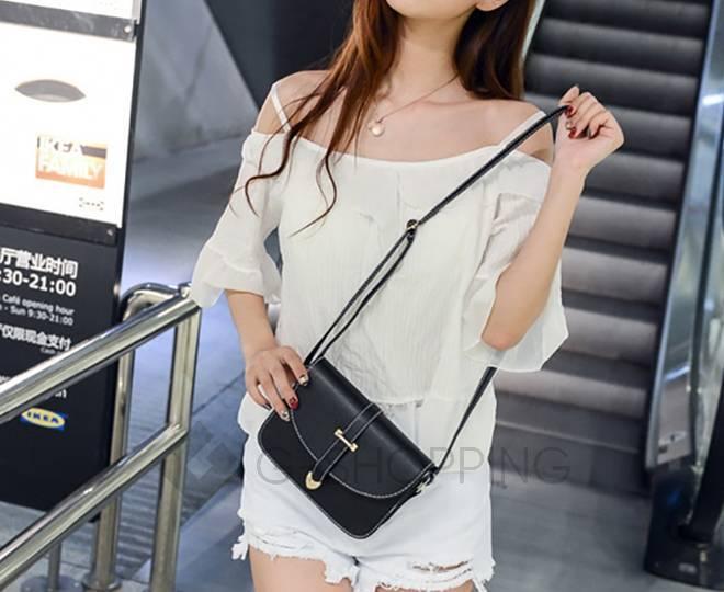 Женская черная сумка кросс-боди на молнии c092 Kingth Goldn, фото 6
