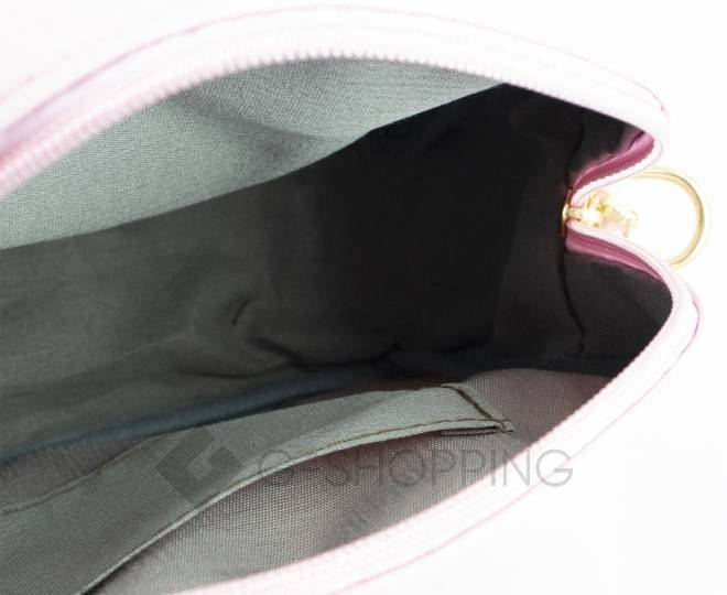 Женская повседневная розовая сумка кросс-боди на молнии C104-11, фото 5