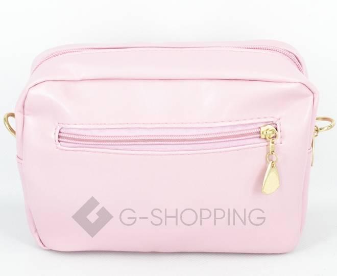 Женская повседневная розовая сумка кросс-боди на молнии C104-11, фото 6
