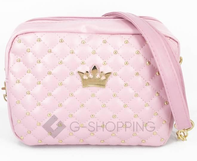 Женская повседневная розовая сумка кросс-боди на молнии C104-11, фото 4