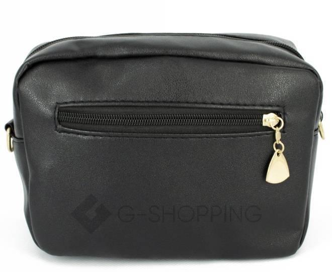 Женская повседневная маленькая черная сумка кросс-боди на молнии C104-11, фото 4