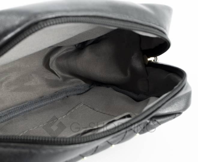 Женская повседневная маленькая черная сумка кросс-боди на молнии C104-11, фото 5