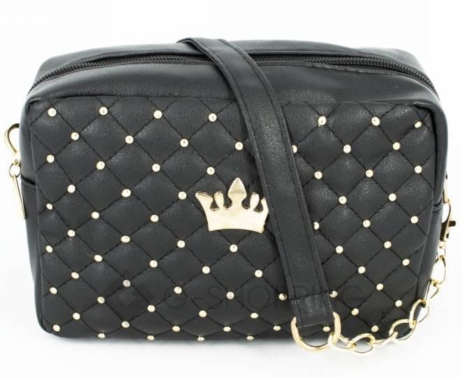 Женская повседневная маленькая черная сумка кросс-боди на молнии C104-11, фото 6