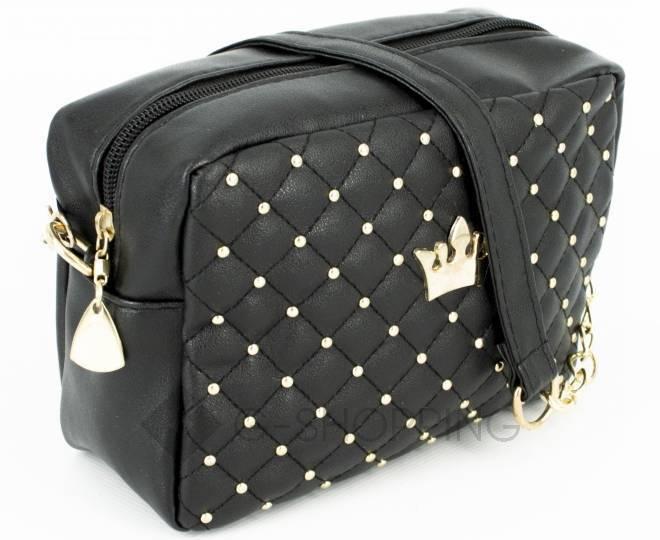 Женская повседневная маленькая черная сумка кросс-боди на молнии C104-11, фото 3