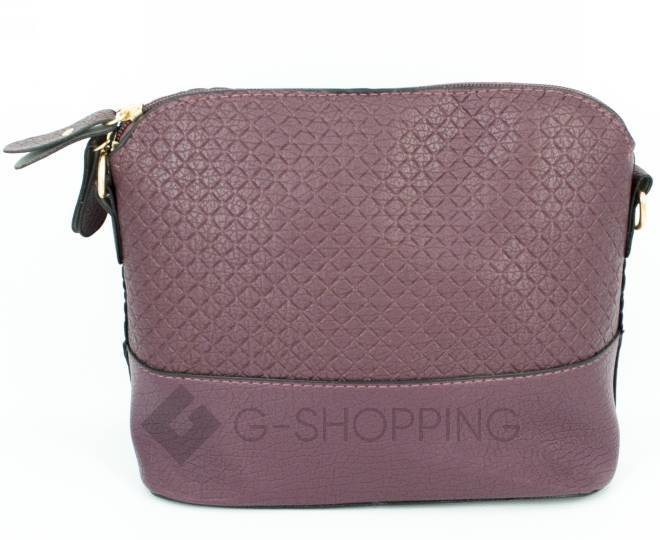 Женская бордовая сумка кросс-боди на молнии C105-29, фото 5