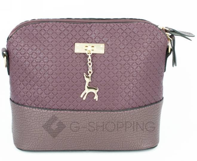 Женская бордовая сумка кросс-боди на молнии C105-29, фото 6