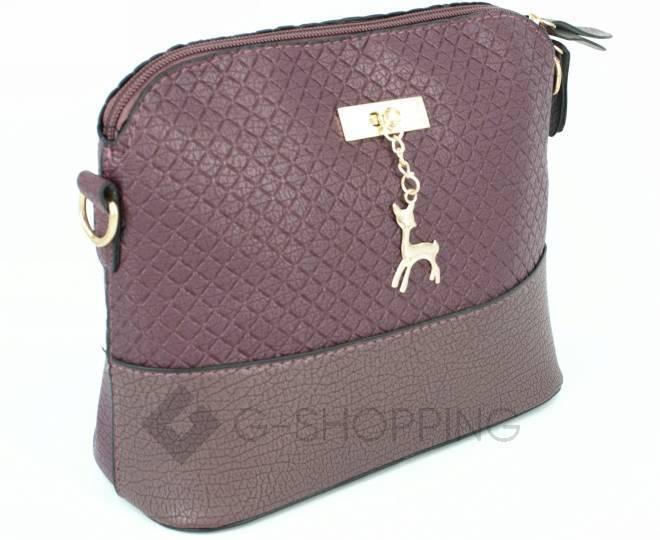 Женская бордовая сумка кросс-боди на молнии C105-29, фото 3
