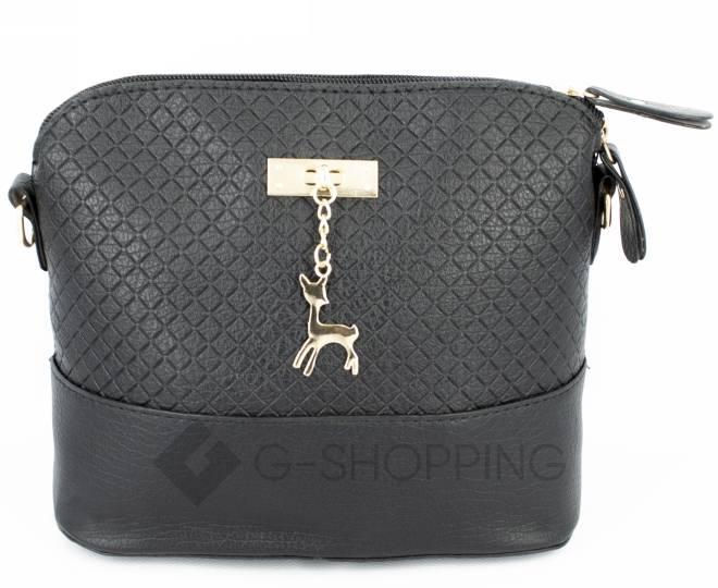 Женская черная сумка кросс-боди на молнии C105-29, фото 4