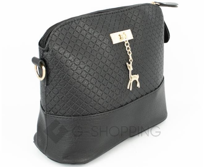 Женская черная сумка кросс-боди на молнии C105-29, фото 3
