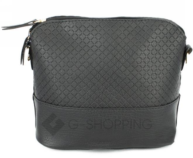 Женская черная сумка кросс-боди на молнии C105-29, фото 6