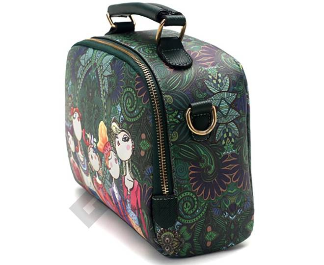 Женская зеленая сумка на молнии с ярким принтом Kingth Goldn, фото 3