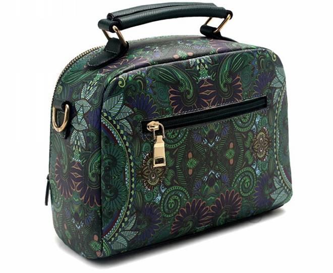 Женская зеленая сумка на молнии с ярким принтом Kingth Goldn, фото 4