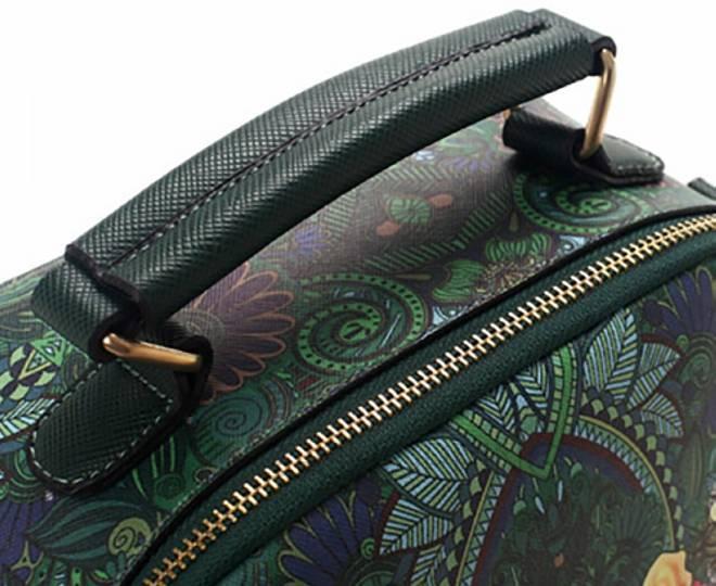 Женская зеленая сумка на молнии с ярким принтом Kingth Goldn, фото 5