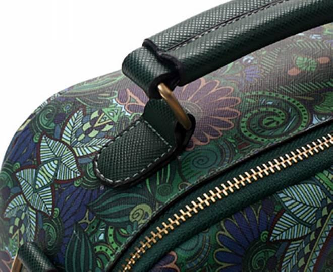 Женская зеленая сумка на молнии с ярким принтом Kingth Goldn, фото 9