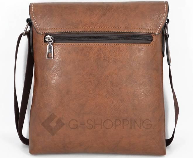 Мужская повседневная бежевая сумка среднего размера с магнитной застежкой 611 Kingth Goldn, фото 4