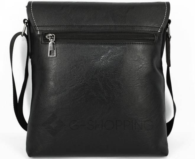 Мужская повседневная черная сумка среднего размера с магнитной застежкой 611 Kingth Goldn, фото 5
