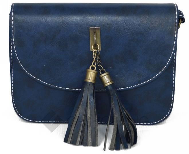 Женская синяя сумка кросс-боди на молнии c090 Kingth Goldn, фото 5