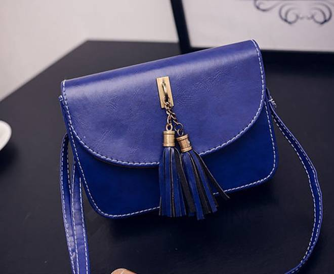 Женская синяя сумка кросс-боди на молнии c090 Kingth Goldn, фото 4
