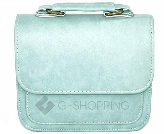 Женская маленькая голубая сумка кросс-боди на магнитной застежке c083 Kingth Goldn, фото 7
