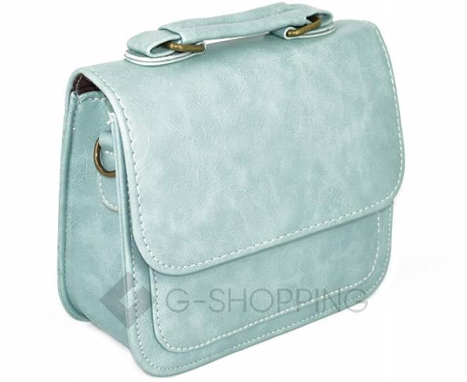 Женская маленькая голубая сумка кросс-боди на магнитной застежке c083 Kingth Goldn, фото 8