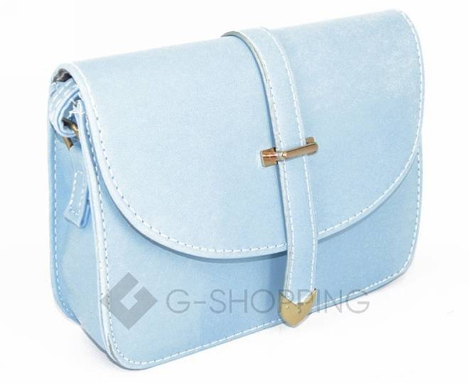 Женская голубая сумка кросс-боди на молнии c092 Kingth Goldn, фото 4